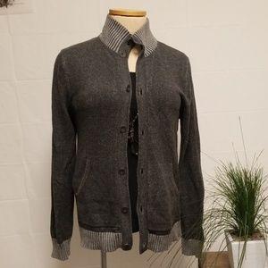 Banana Republic Men's Gray Cotton Sweater Jacket M